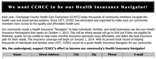 CCHCC Navigator Petition