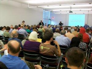 Meeting room packed