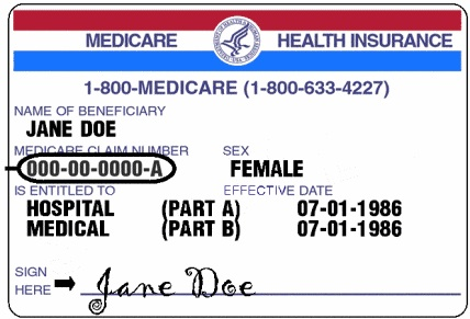 medicarethe red white and blue card is a federal insurance program for people 65 and older people under 65 with certain disabilities and people of any